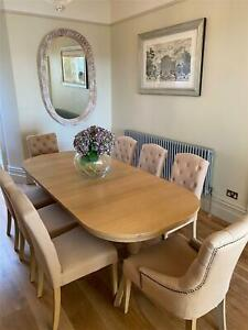 Neptune Henley Extending Dining Table & 6 Sheldrake Chairs plus 2 Henley Chairs