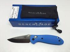 Benchmade 556-BLU Mini Griptilian Knife Blue Handle Plain Edge Satin Blade EDC