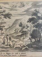 Antique Flemish Dutch Etching Peeter Stephani May Mavis Framed Rare Peter 16th