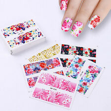 48Patterns Flower Water Stickers Nail Art Transfer Decals Rose Flower Butterfly