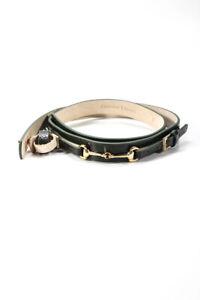 DODO BAR OR Womens Jill High Waist Belt Olive Green Size Medium