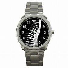 Piano Keys Pianist Musician Music Stainless Steel Sport Watch New!