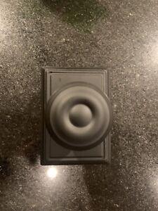 schlage black doorknob hall & closet