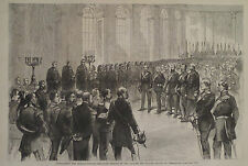 PROCLAIMING THE GERMAN EMPIRE IN THE PALACE OF VERSAILLES HARPER'S WEEKLY 1871