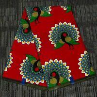 Ankara African Peacock Polyester Wax Print Fabric Dress DIY Making Accessories