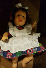 Small Vintage Brown Hair Doll With Brown Eyes
