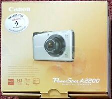 Canon PowerShot A2200 14.1MP Digital Camera - Black + 2 GB Memory Card