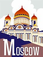 Travel Tourism Moscow Russia Kremlin Dome Roof Sky Cloud Cool Canvas Print