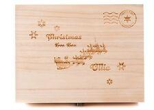 Personalised Engraved Wooden Christmas Eve Treat Box Santa