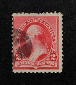 US Stamp Scott #220 ~ WASHINGTON carmine 2c 1890 GR01