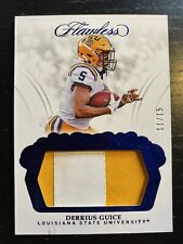 Derrius Guice 11/15 2018 Flawless RC 2 Color LSU patch Washington Redskins