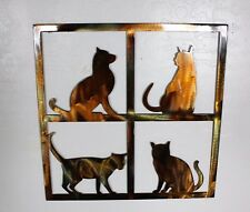 """How Much is that Kitty in the Window Metal Wall Art 18"""" x 18"""""""