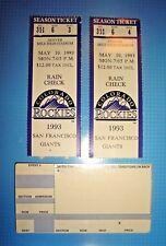 3 RARE MLB COLORADO ROCKIES BASEBALL TICKET STUBS VINTAGE 1993/1994 MILE HIGH
