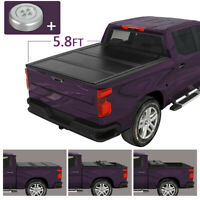 Hard Solid Tri-Fold Tonneau Cover For 2009-2018 Dodge Ram 1500 5.8FT Bed