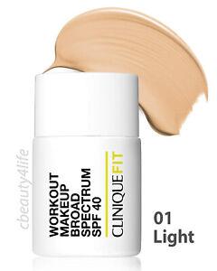 Clinique Fit 01 LIGHT Workout Makeup Broad Spectrum SPF 40 - NEW SEALED!