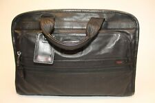 Tumi Large Black Leather Business Briefcase Travel Toe Bag 9610IDH