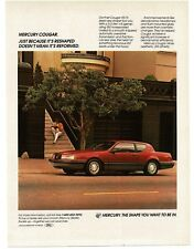 1987 Mercury COUGAR XR-7 Red 2-door Coupe VTG PRINT AD