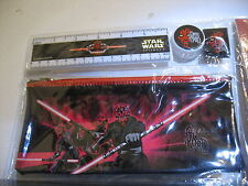 Darth Maul Star wars Pencil case sharpener ruler eraser rubber Sith lord kit