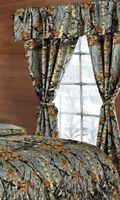GRAY CAMO CURTAINS WOODS CAMOUFLAGE 5 PIECE SET GREY WINDOW DRAPERY SHADES