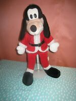 "Disney Goofy Santa Plush Stuffed Animal Christmas 18"" Vintage Holiday 1990s"