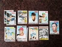1970 TOPPS Baseball 12-card lot - Al Oliver, Graig Nettles, Sparky Anderson