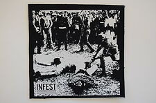 "Infest Cloth Patch Sew On Badge Hardcore Crust Punk Rock Approx. 5""X5"" (CP89)"