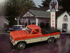 Greenlight VINTAGE TEXACO Gas Station 1969 FORD F-100 pickup truck✰light Red