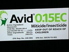 ( Cali ) Delivered In 2 Days 4 FL.OZ AVID 0.15 EC Miticide insecticide 120 ML