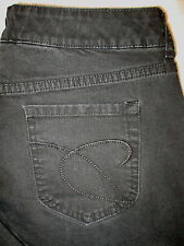 Chico's Platinum Charm MR Stretch Boot Womens Black Jeans Size 2 R x 30  Mint
