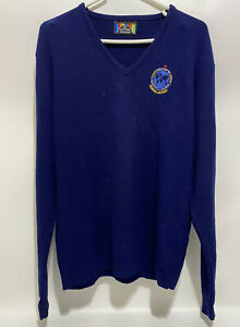 Vintage 1986 Moscow '86 Goodwill Games knit Pullover Sweater Navy Blue Sz Small