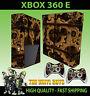 XBOX 360 E STEAMPUNK GEARS VICTORIAN COGS STEAM STICKER SKIN & 2 PAD SKIN