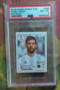 Lionel Messi 2018 Panini FIFA World Cup Russia #288 Stickers ARG PSA 8 NM-MT _