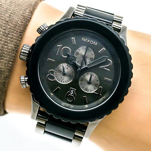 Nixon Minimize 42-20 Chrono Unisex Watch Stainless Chronograph Date 200m Working