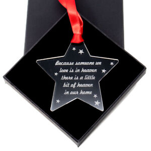 Memorial poem bauble - Acrylic Tree ornament decoration Because someone we love