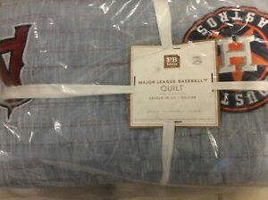 Pottery Barn Teen MLB  Full/Queen Quilt NWT!  F/Q Baseball Patches Sports