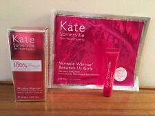 Kate Somerville Wrinkle Warrior 2-in-1 Plumping Moisturizer Serum 1.7oz+Mask NEW
