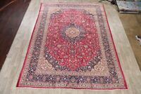 10x13 Vintage Floral Traditional Area Rug Wool Hand-Knotted Oriental RED Carpet