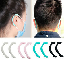 3Pairs Silicone Non-slip Face Mask Ear Hook Grip Extension Earmuff Strap Protect