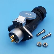 1Set WP20 2Pin Waterproof Chassis Panel Mount Aviation Plug Cable Connector