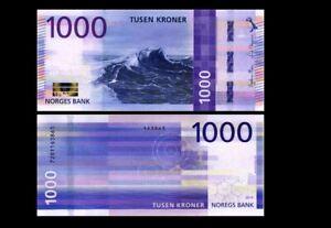 NORWAY 1000 KRONER 2019 YEAR P 57 UNC