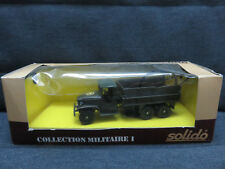 VEHICULES MILITAIRES SOLIDO GMC TREUIL DEPANNEUSE 1/50 TBE