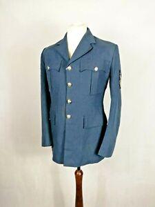 Genuine Vintage British RAF No.1 Dress Jacket Blue Wool Tunic Royal Air Force