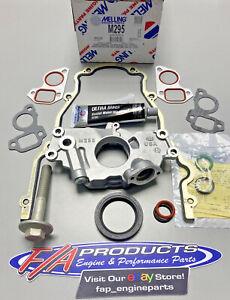 GM LS 4.8L 5.3L 6.0L V8 Melling M295 Oil Pump Change Kit Gaskets Balancer Bolt
