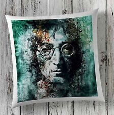 John Lennon Beatles Patrice MURCIANO Music Verde Cuscino copre in finta pelle scamosciata Regalo