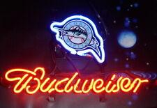 "New Florida Marlins Logo Neon Light Sign 14""x10"" Lamp Display Beer Glass Bar"