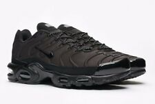 DS MENS NIKE AIR MAX PLUS SE TRIPLE BLACK 918240 002 RUNNING SZ 10 FREE SHIP