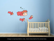 Ghibli Ponyo - Ponyo and Sisters Wall Art Applique Stickers