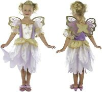 Girls Fancy Dress Deluxe Fairy Princess Costume & Wings Fairy Outfit by Smiffys