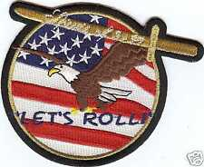 LETS ROLL SPIRIT OF 9 11 NY PA PATCH US ARMY MARINES NAVY AIR FORCE PIN UP GIFT
