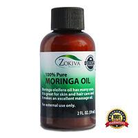 Moringa Oil 100% Pure Cold Pressed  All-Natural, Anti-Aging, 2 fl. oz. (59ml)